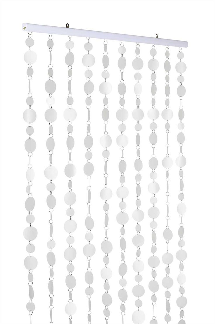 Frosted Clear PVC Circles Curtain -- 12 Feet Long