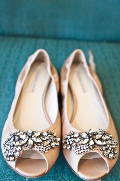 Jeweled Flat Wedding Shoes - http://www.pinkous.com/wedding-ideas/jeweled-flat-wedding-shoes.html