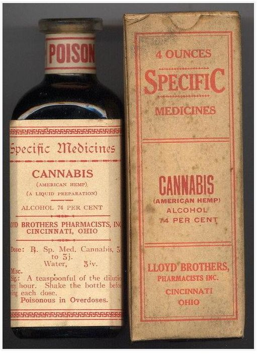 old cannabis medicine bottles with cool fonts