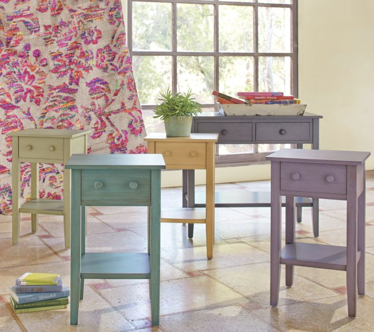 Market Home: Sara Bedroom Nightstands In A Variety Of Colors Via Cost