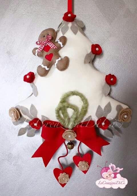 Arvore de natal em feltro