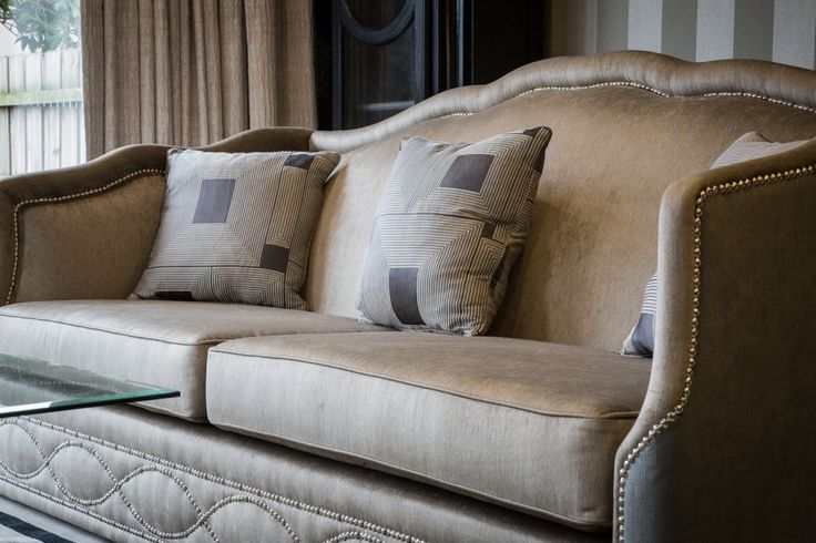 Contemporary Sofa with Stud Detailing