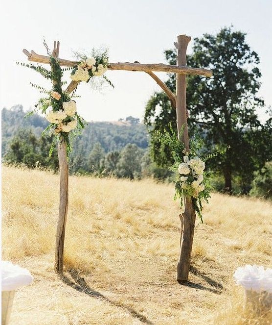 Wedding Altar Decorations For Outside: Rustic Wedding Altar Keywords: #weddingaltars