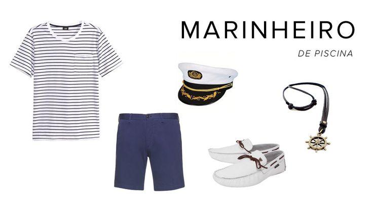 Esqueceu da fantasia? #marinheiro #fantasia #homem #masculina #homens #improviso #improvisada #basica #fácil #últimahora