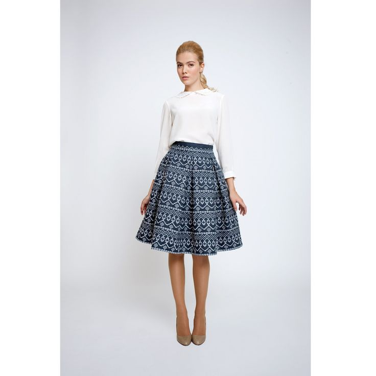 ANNA Embroidered Flared Skirt (L) | Rumour London | Wolf & Badger