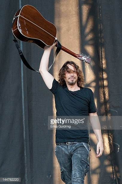 Chris Cornell performs during the 2012 Hangout Music Festival on May 18 2012 in Gulf Shores Alabama