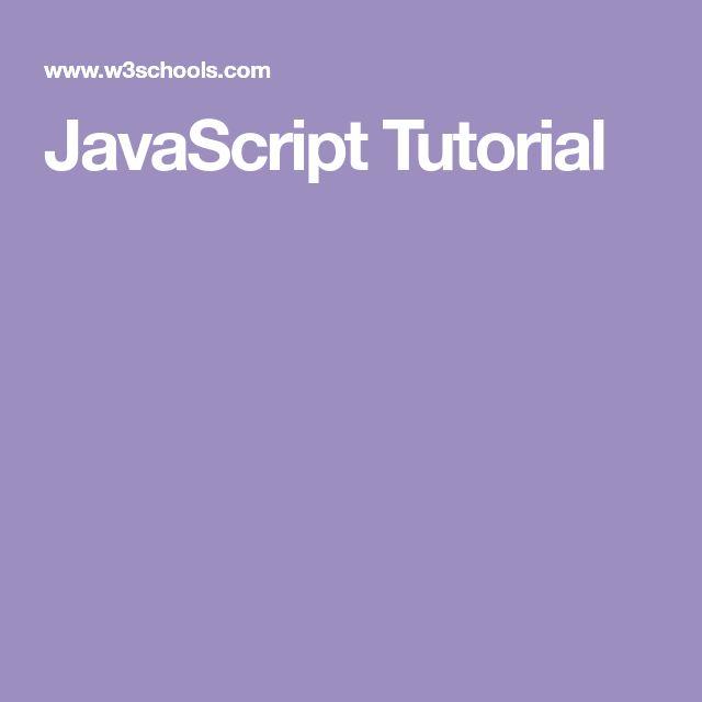JavaScript Tutorial | Programmieren lernen, Programmieren ...