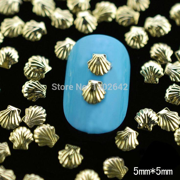 М1 1 100 pcs/lot 5 мм золото снаряды шпильки Mini сплав металл раковина бусины для маникюр украшение ремесло купить на AliExpress