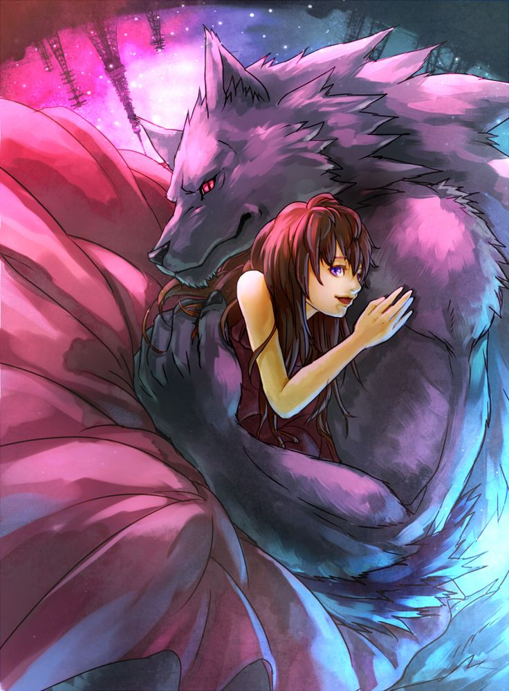 Картинки аниме людей и волков