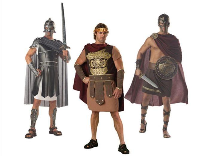 Roman Soldier Gladiator Fancy Dress Costume Greek Centurion Warrior Toga Party | eBay