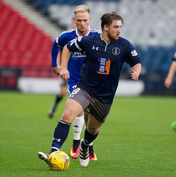 Queen's Park's Aiden Malone in action during the Ladbrokes League One game between Queen's Park and Peterhead