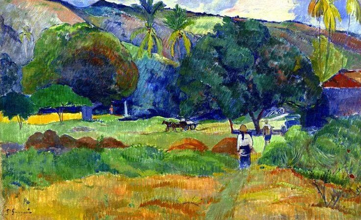 """""""The little valley"""" by Paul Gauguin"""