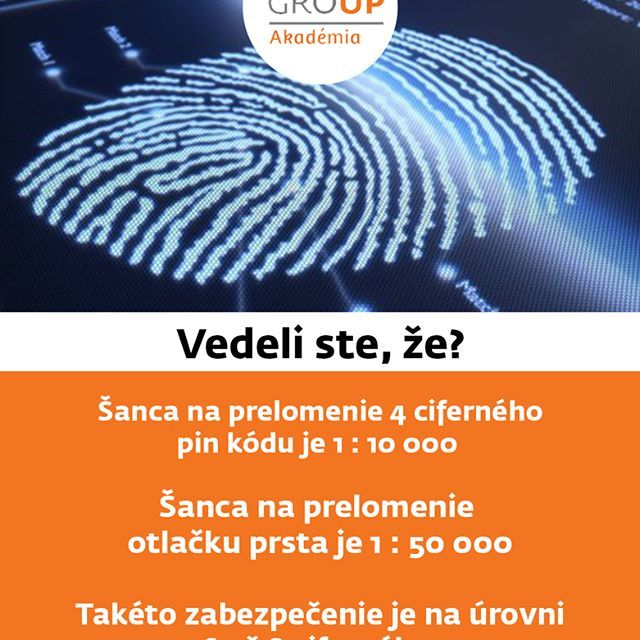 #ZFP #ZFPA #vedelisteze #odtlacokprsta #fingerprint #bezpecnost #pin #akademia #dobrevediet #financie