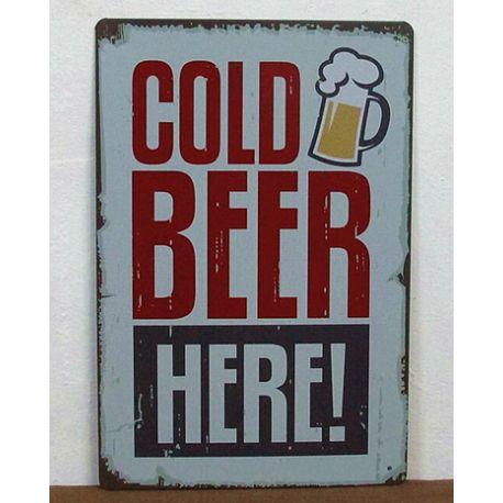cold beer here #deco plaque metal