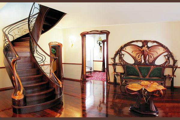 Art Nouveau Staircase Door Details And Furniture