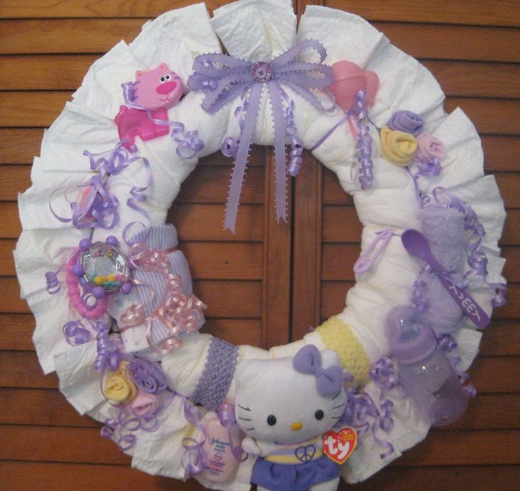 Baby Shower Wreath Instructions: 9 Best Images About Diaper Wreath Ideas On Pinterest