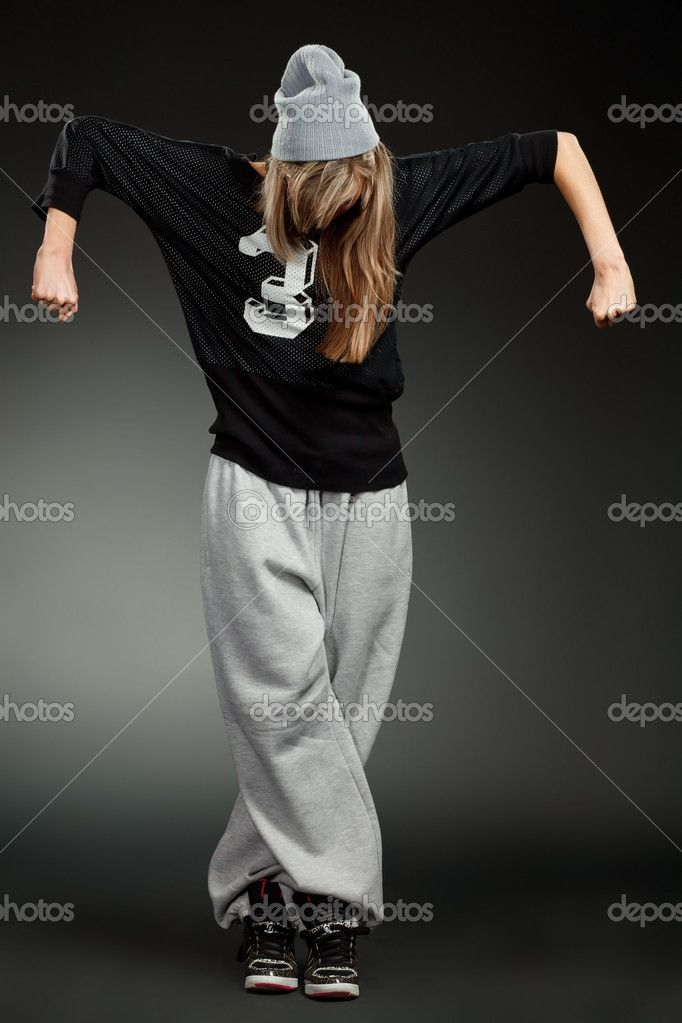 Hip Hop Clothes for Girls | Stylish hip hop girl — Stock Photo © Владимир ...