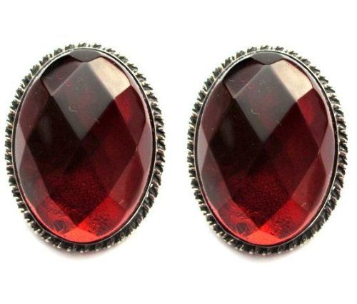 Sterling Silver Red Dark Amber Large Faceted Oval Clip-on Earrings Cabochon Size 18x25mm Amber by Graciana,http://www.amazon.com/dp/B006QZWZK6/ref=cm_sw_r_pi_dp_p3HOsb1W2TKRWHF8