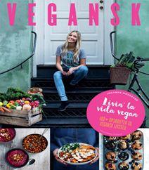 """Vegansk af Johanne Mosgaard er en kogebog, der præsenterer de veganske retter ungt, frisk og inspirerende. De 120 opskrifter er praktisk opdelt efter dagens måltider, og du får inspiration både til dine ordinære hverdagsretter, men du får også lækre måltider til dine gæster. Klik på forsidefotoet for at læse mere om """"Vegansk af Johanne Mosgaard""""."""