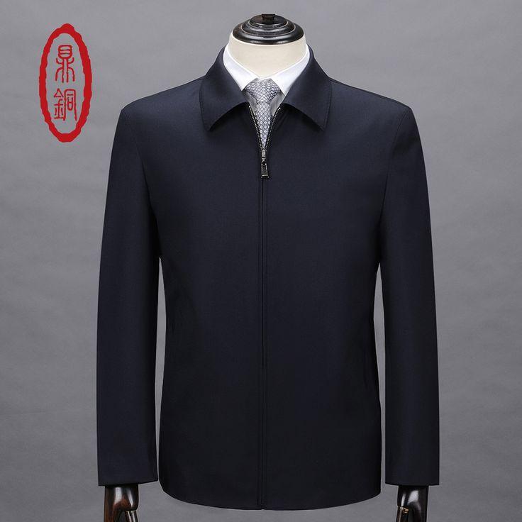 DINGTONG Brand Clothing Mens Wool Jacket Short Style Zip Formal Overcoat Sobretudo Male Antipilling Casual Woolen Coats Jackets