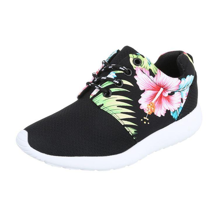 10,99 € - Diese modischen Sneakers sind angenehm leicht und somit super bequem zu tragen. Die rutschhemmende Sohle ist vorn und hinten leicht hochgezogen. Hingucker ist vor allem das schicke Blumenmuster.
