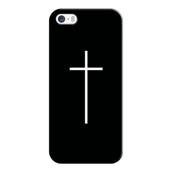 iPhone 6 Plus/6/5/5s/5c Case - Black Cross (46 CAD) ❤ liked on Polyvore featuring accessories, tech accessories, phone cases, phones, cases, iphone, iphone cases, black iphone case, apple iphone cases and iphone cover case