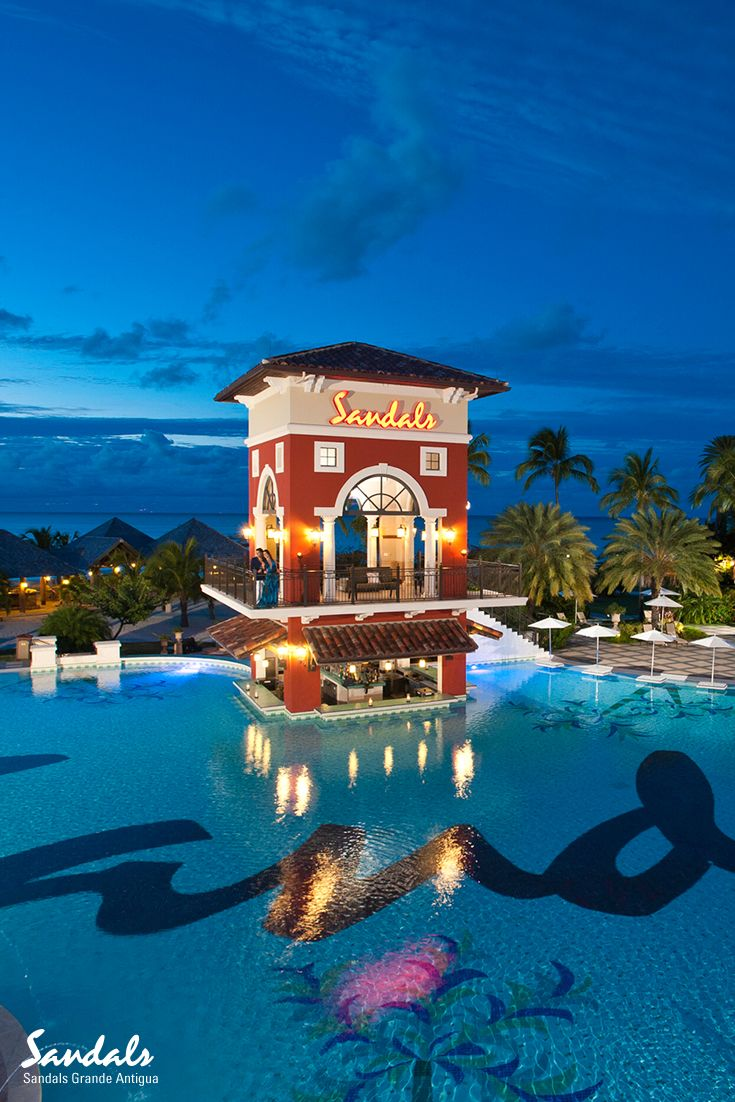 Sandals shoes holidays - The Main Pool At The 6 Star Mediterranean Village At Sandals Grande Antigua With The