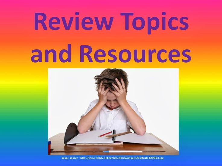 Review Topics and Resources