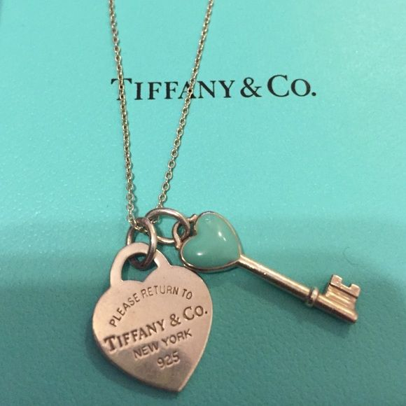 Tiffany and co necklace Return to Tiffany heart necklace with key enameled key charm Tiffany & Co. Jewelry Necklaces