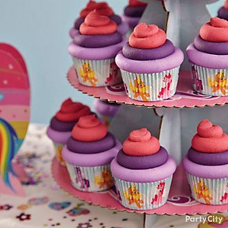 how to make a pony cupcake cake