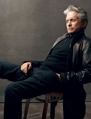"""Photographed here by Annie Leibovitz, Michael Douglas reprises his Oscar-winning role as Gordon Gekko, in """"Wall Street: Money Never Sleeps"""" from 2010  Michael, born in 1944 was 65 when he played """"Gekko"""" for the second time."""