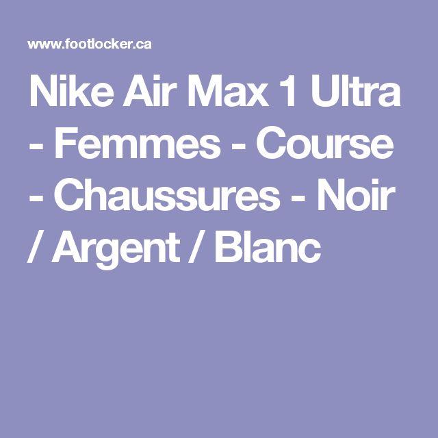 Nike Air Max 1 Ultra - Femmes - Course - Chaussures - Noir / Argent / Blanc