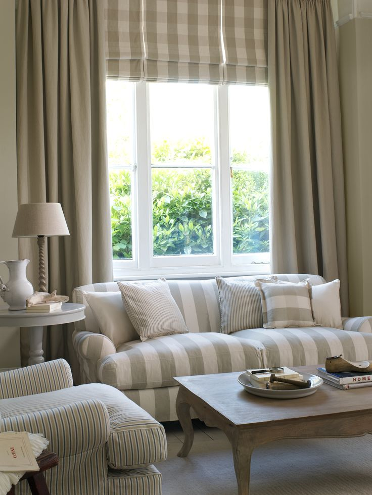 Clarke Fabric Sectional Sofa Living Room: Striped Drapes: A Collection Of Ideas To Try About Home