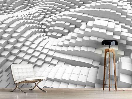 Die besten 25+ Fototapete 3d Ideen auf Pinterest 3d wandbilder - futuristische buro einrichtung mit metall 3d wandpaneelen