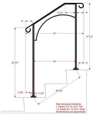 Best Details About Iron X Handrail Arch 2 Railing Rail Fits 2 400 x 300
