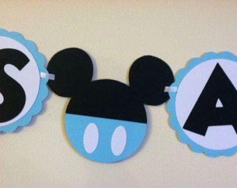 Bannière de douche bébé Mickey Mouse - ses un garçon, prêt à la pop, baby boy, Baby shower idées