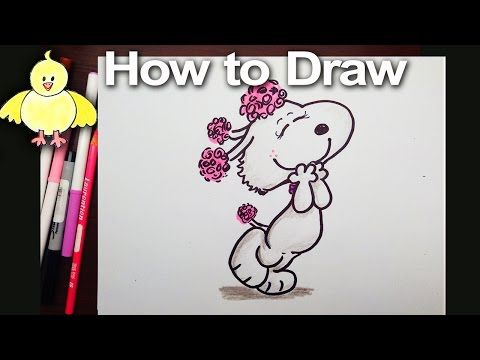 Drawing: How To Draw Fifi (Snoopy's Girlfriend) from the Peanuts Movie step by step - YouTube