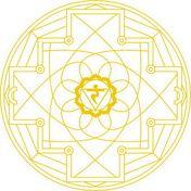 Mandala de Chakra Manipura Dibujo para colorear