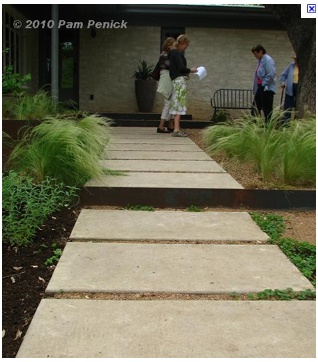 Large Square Concrete Stepping Stones Concrete Pavers