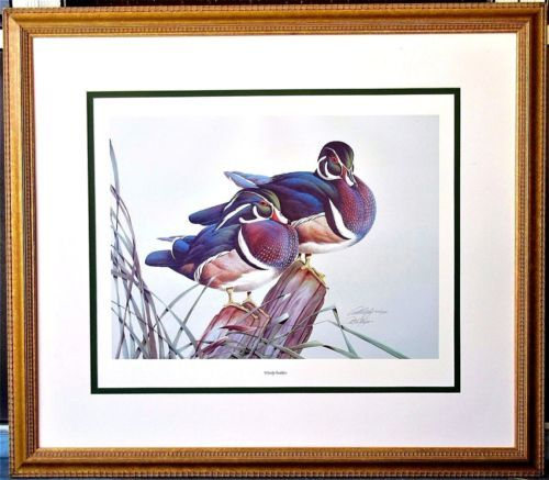 Art-LaMay-034-Woody-Buddies-034-Pencil-Signed-Limited-Edition-Print-Framed-Matted