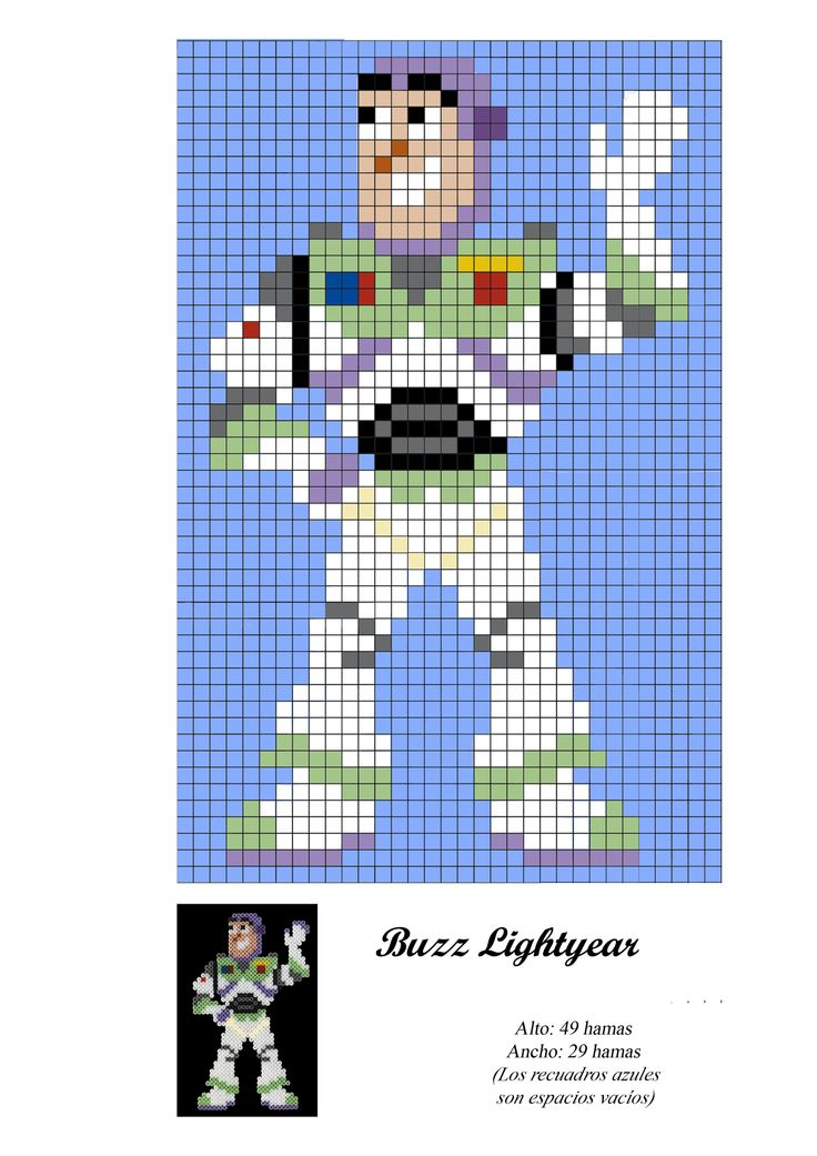 Buzz Lightyear - Toy Story - hama bead pattern