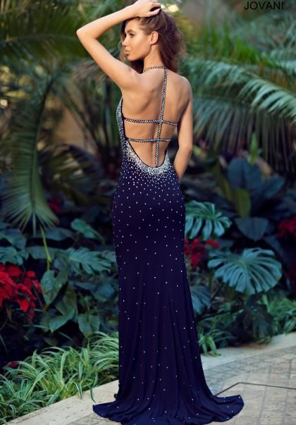 Jovani Cut Out Back Prom Dress 90640 at Prom Dress Shop