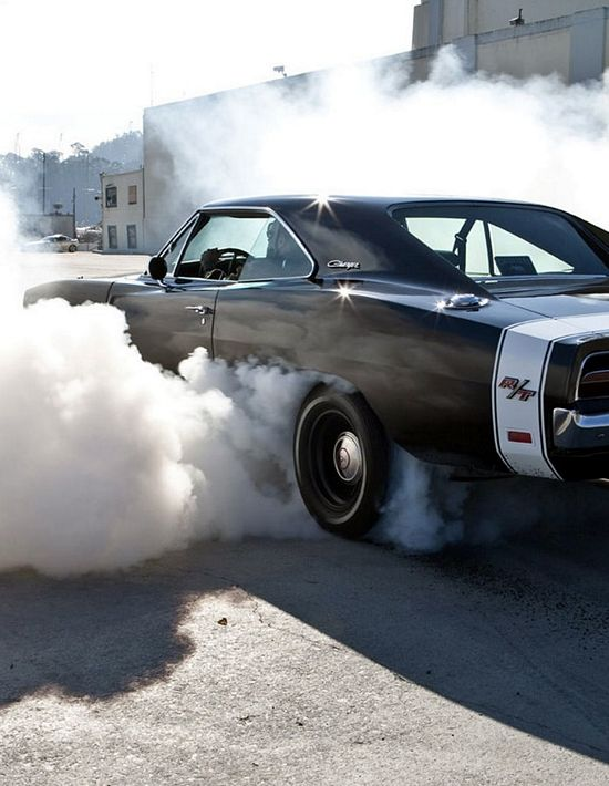 """Ghetto thunder"" Dodge Charger R/T doing a burnout 