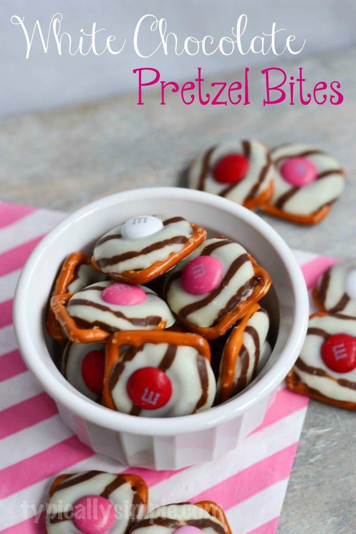 White Chocolate Pretzel Bites | White Chocolate Pretzels, Pretzels and ...