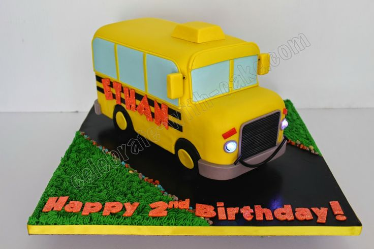 Celebrate+with+Cake!:+Yellow+School+Bus
