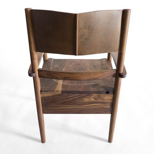 Tatanka Dining Chair   American Buffalo Hand Sewn Back Rest / Solid Black  Walnut Frame. Leather HidesFine FurnitureModern ...