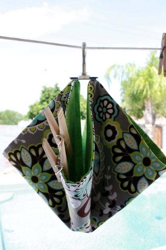 Clothespin Bag by onegirl4boys on Etsy, $15.00