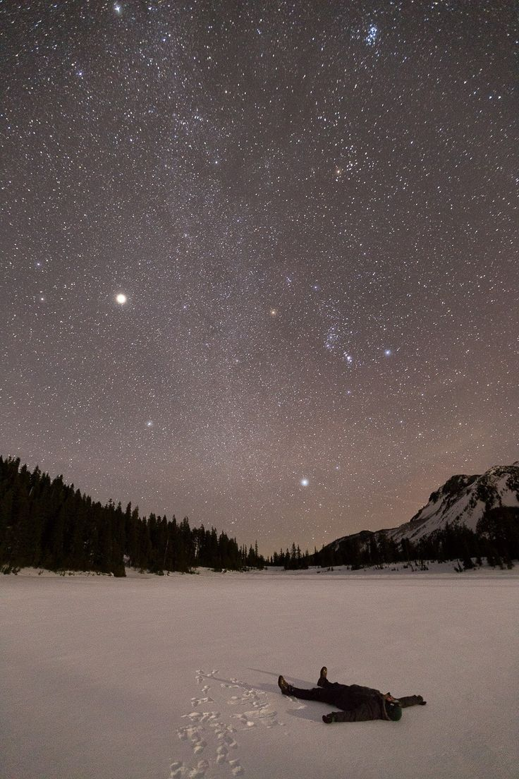 The absolute wonder of silence and snow | #silentnight #snow #landscape #stars