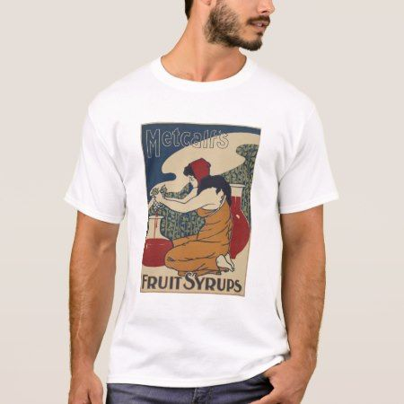 NYPL | Vintage Poster | Metcalf's Fruit Syrups T-Shirt - click to get yours right now!