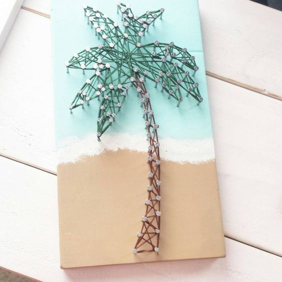 Hey, I found this really awesome Etsy listing at https://www.etsy.com/listing/227581023/palm-tree-string-art: